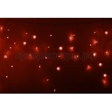 Гирлянда Айсикл (бахрома) светодиодный, 2,4 х 0,6 м, прозрачный провод, 230V, красный, 88 LED, Neon-Night 255-052