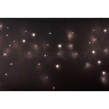Гирлянда светодиодная Айсикл (бахрома), 4,8*0,6 м, постоянное свечение, прозрачный провод, 220V, теплый белый, Neon-Night 255-146