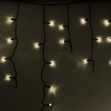 Гирлянда Айсикл (бахрома) светодиодный, 4,8 х 0,6 м, черный провод, 230V, теплый белый, 176 LED, Neon-Night 255-156