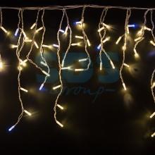 """Гирлянда """"Айсикл"""" 4,8х0,6 м, с эффектом мерцания, белый провод, 176 LED, теплый белый, 220В, Neon-Night 255-166"""