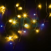 Гирлянда Айсикл (бахрома) светодиодный, 4,0 х 0,6 м, с эффектом мерцания, черный провод, 230V, желтый,, Neon-Night 255-231