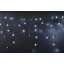 Гирлянда светодиодная Айсикл (бахрома), 5,6*0,9 м, с эффектом мерцания, белый провод, 220V, белый, Neon-Night 255-265