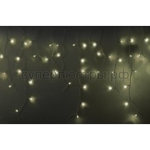 Гирлянда светодиодная Айсикл (бахрома), 5,6*0,9 м, с эффектом мерцания, белый провод, 220V, теплый белый, Neon-Night 255-266