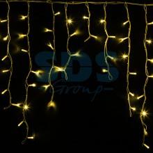 Гирлянда Айсикл (бахрома) светодиодный, 5,6 х 0,9 м, белый провод, 230V, желтый, 240 LED, Neon-Night 255-281