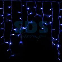 Гирлянда Айсикл (бахрома) светодиодный, 5,6 х 0,9 м, белый провод, 230V, синий, 240 LED, Neon-Night 255-283