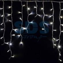 Гирлянда Айсикл (бахрома) светодиодный, 5,6 х 0,9 м, белый провод, 230V, белый, 240 LED, Neon-Night 255-285