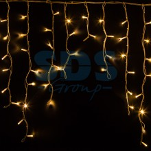 Гирлянда Айсикл (бахрома) светодиодный, 5,6 х 0,9 м, белый провод, 230V, теплый белый, 240 LED, Neon-Night 255-286