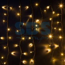 Гирлянда Айсикл (бахрома) светодиодный, 6,0 х 1,5 м, черный провод, 230V, теплый белый, 480 LED, Neon-Night 255-296
