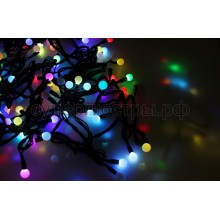 "Гирлянда ""Мультишарики"" d17,5-45мм 10м черный провод, 80 LED, RGB, Neon-Night 303-589"