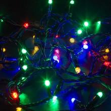 Гирлянда Нить 10м, постоянное свечение, черный провод, 24V, RGB, Neon-Night 305-149
