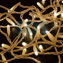 Гирлянда Нить 10м, постоянное свечение, белый провод, 230V, теплый белый, Neon-Night 305-166