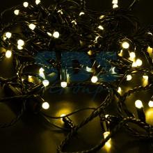 Гирлянда Нить 10м, постоянное свечение, черный провод, 230V, желтый, Neon-Night 305-171