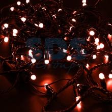 Гирлянда Нить 10м, постоянное свечение, черный провод, 230V, красный, Neon-Night 305-172
