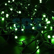 Гирлянда Нить 10м, постоянное свечение, черный провод, 230V, зеленый, Neon-Night 305-174
