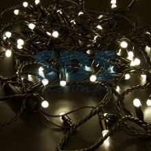 Гирлянда Нить 10м, постоянное свечение, черный провод, 230V, теплый белый, Neon-Night 305-176
