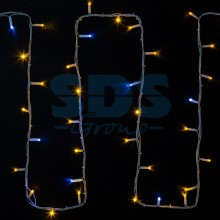 "Гирлянда модульная ""Дюраплей LED"" 20м 200 LED, белый провод, мерцающий ""Flashing"" (каждый 5-й диод), желтый, Neon-Night 315-181"