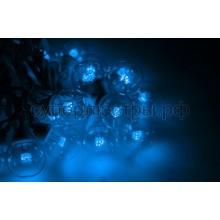 Гирлянда LED Galaxy Bulb String 10м, черный провод, 30 ламп*6 LED синие, влагостойкая IP54, Neon-Night 331-323