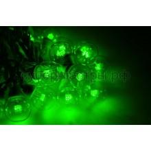 Гирлянда LED Galaxy Bulb String 10м, черный провод, 30 ламп*6 LED зеленые, влагостойкая IP54, Neon-Night 331-324