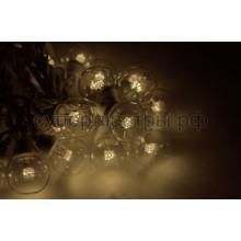 Гирлянда LED Galaxy Bulb String 10м, черный провод, 30 ламп*6 LED теплые белые, влагостойкая IP54, Neon-Night 331-326