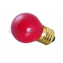 Лампа накаливания Е27 10 Вт красный колба, Neon-Night 401-112