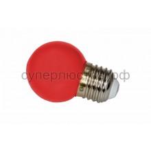 Лампа шар Е27 3 LED d45мм - красный, Neon-Night 405-112