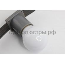Лампа шар Е27 3 LED d45мм - белая, Neon-Night 405-115