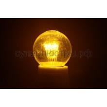 Лампа шар Е27 6 LED d45мм - желтый, прозрачная колба, эффект лампы накаливания, Neon-Night 405-121