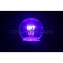 Лампа шар Е27 6 LED d45мм - синий, прозрачная колба, эффект лампы накаливания, Neon-Night 405-123