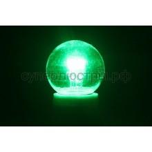 Лампа шар Е27 6 LED d45мм - зеленый, прозрачная колба, эффект лампы накаливания, Neon-Night 405-124