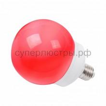 Лампа шар Е27 12 LED d100мм красный, Neon-Night 405-132