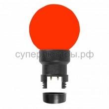 Лампа шар 6 LED для белт-лайта, красный, d45мм, красный колба, Neon-Night 405-142