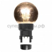 Лампа шар 6 LED для белт-лайта, теплый белый, d45мм, прозрачная колба, Neon-Night 405-148