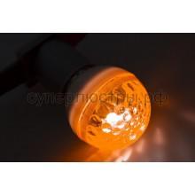Лампа шар Е27 10 LED d50мм желтый 24V, Neon-Night 405-611