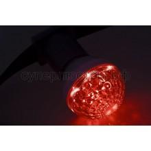 Лампа шар Е27 10 LED d50мм красный 24V, Neon-Night 405-612