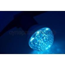 Лампа шар Е27 10 LED d50мм синий 24V, Neon-Night 405-613