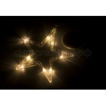 """Фигура светодиодная """"Звездочка"""" на присоске с подвесом, теплый белый, Neon-Night 501-011"""