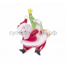 "Фигура светодиодная на присоске ""Санта-Клаус с елочкой"", RGB, Neon-Night 501-025"