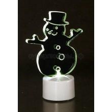 """Фигура светодиодная на подставке """"Снеговик в шляпе 2D"""", RGB, Neon-Night 501-043"""
