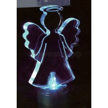 """Фигура светодиодная на подставке """"Ангел 2D"""", RGB, Neon-Night 501-044"""
