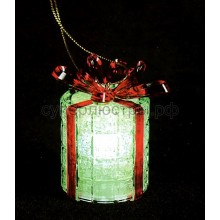 "Фигура светодиодная на подставке ""Новогодний подарок"", RGB, Neon-Night 501-049"