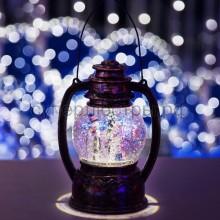 """Декоративный фонарь с эффектом снегопада и подсветкой """"Снеговики"""", белый, Neon-Night 501-061"""