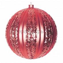 """Елочная фигура """"Полосатый шар"""", 20 см, цвет красный, Neon-Night 502-072"""