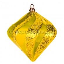 """Елочная фигура """"Алмаз"""", 15 см, цвет золотой, Neon-Night 502-161"""