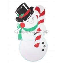 """Елочная фигура """"Снеговик в шляпе"""" 175*90 см, цвет белый, Neon-Night 502-394"""