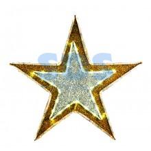 """Фигура """"Звезда"""" бархатная с постоянным свечением, размеры 61 см (81 светодиод желтого+белого цвета) Neon-Night 514-011"""