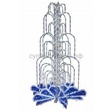 Световой фонтан, высота 2 м, диаметр 1,3 м (с контроллером) синий, Neon-Night 522-115