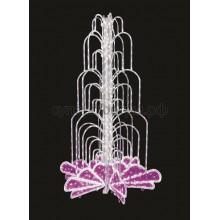 Световой фонтан, высота 4 м, диаметр 2,5 м (с контроллером) розовый, Neon-Night 522-118
