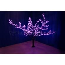 """Светодиодное дерево """"Сакура"""", высота 1,7 м, диаметр кроны 1,8 м фиолетовый, Neon-Night 531-131"""