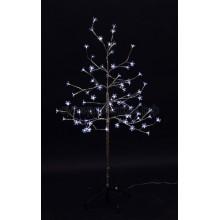 """Дерево комнатное """"Сакура"""", ствол и ветки фольга, высота 1,2 м, 80 LED, белый, Neon-Night 531-255"""