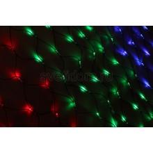 Гирлянда-сеть светодиодная 1*1,5м, свечение с динамикой, черный провод, диоды мульти Neon-Night 215-119-6